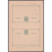 España Spain Entero Postal 12 1882 Doble