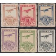 España Spain 483/88 1930  Ferrocarril Avión Plane Bristol Sin goma  MH