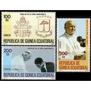 Guinea Ecuatorial 32/34 1982 - Viaje del Papa