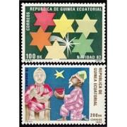 Guinea Ecuatorial 43/44 1983 - Navidad 1982