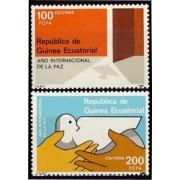 Guinea Ecuatorial 92/93 1987 - Año Internacional de la Paz