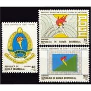 Guinea Ecuatorial 101/103 1988 - I Aniv. del Partido Democrático de G.Ecuatorial