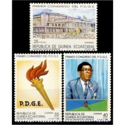 Guinea Ecuatorial 115/17 1989 - Congreso P.D.G.E.
