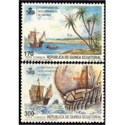 Guinea Ecuatorial 129/30 1990 - V Centenario del descubrimiento de América