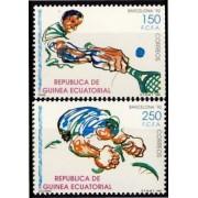 Guinea Ecuatorial 133/34  1991 - JJOO Barcelona 92