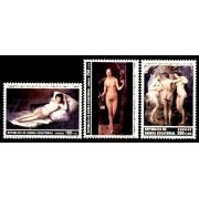 Guinea Ecuatorial 136/38 1991 - Grandes Maestros de la Pintura