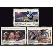 Guinea Ecuatorial 189/91 1994 -XXV Aniv. de la llegada del hombre a la Luna