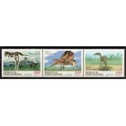 Guinea Ecuatorial 284/86 2002 - Fauna prehistórica