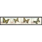 Guinea Ecuatorial 296/99  2003 - Fauna. Mariposas de África