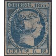 España Spain 21 1853 Isabel II