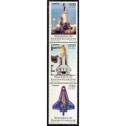Guinea Ecuatorial 333/35 2004 - Homenaje a la tripulación del Columbia STs-107