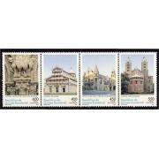 Guinea Ecuatorial 349/52 2005 - Arquitectura del románico