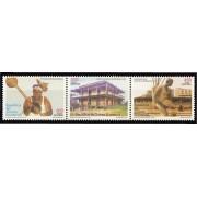 Guinea Ecuatorial 357/59  2005 - Artistas y Escritores por la Paz