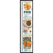 Guinea Ecuatorial 378/80 2006 - Campeones del Mundo de Baloncesto