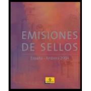 Libro Album Oficial de Sellos España y Andorra Año Completo 2004