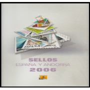 Libro Album Oficial de Sellos España y Andorra Año Completo 2006
