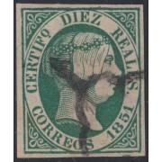 España Spain Variedad 11a 1851 Edifil Especializado Isabel II
