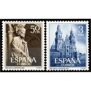 España Spain 1130/31 1954 Santo Compostelano MH