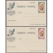 España Spain Entero Postal ( tarjeta ) 88/89 CIF 1960 Mismo número Barco Boat
