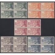 España Spain 1111/15 Bl.4 1952 Fernando el Católico MNH