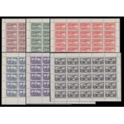 España Spain 614/19 1931 Unión Postal Panamericana En Hoja Completa de 25 Sellos