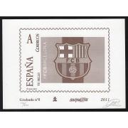 España Spain Grabado 5 Barnafi 2013 FC Barcelona ( escudo ) Barça Tirada. 600