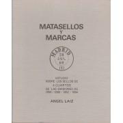 ESPAÑA ESTUDIO MATASELLOS Y MARCAS del sello de 4 CUARTOS A. Laiz