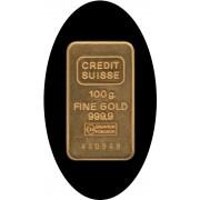 Lingote Ingot Credit Suisse 100 gramos de  oro puro 999 Gold