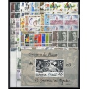 España Spain Año Completo Year Complete 1981 BL. 4 + 4 HB MNH