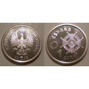 España Spain 1998 Euros conmemorativos Ejército Moneda 1€ Plata FNMT