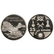 España Spain 1998 Euros conmemorativos Ejército Moneda 25€  plata FNMT