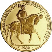 España Spain Monedas 1989 Carlos IV 100 Ecus oro