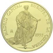 España Spain Moneda 1992 Carlos III Madrid capital europea 100 ecus oro