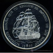 España Spain Monedas Cincuentin Marina española 25 ecu 1995 plata