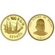España Spain Monedas 1995 Marina Española Serie completa Plata y oro