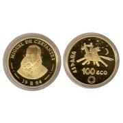 España Spain Monedas 1994 100 Ecus Cervantes oro