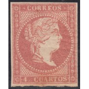 España Spain 48 B 1855 Isabel II Stamps MNH