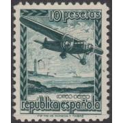 España Spain NE 38 1939 No expendido  - Avión en vuelo - Plane  MH