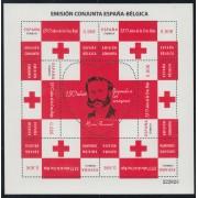 España Spain HB Emisión Conjunta 2013 España-Bélgica Cruz Roja Red Croos MNH