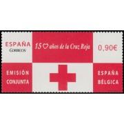 España Spain Emisión Conjunta 2013 España-Bélgica Cruz Roja Red Croos MNH