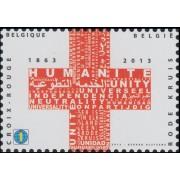 España Spain Emisión Conjunta 2013 Bélgica-España Cruz Roja Red Croos MNH