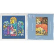 España Spain Emisión conjunta 2000 Alemania-España Navidad MNH