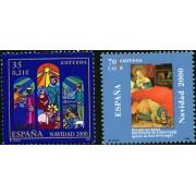 España Spain Emisión conjunta 2000 España-Alemania Navidad MNH