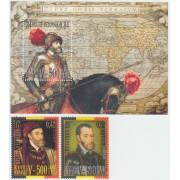 España Spain Emisión conjunta 2000 Bélgica-España Carlos V MNH