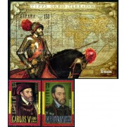 España Spain Emisión conjunta 2000 España-Bélgica Carlos V MNH
