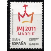 España Spain Emisión Conjunta 2011 Vaticano-España Jornadas Juventud MNH