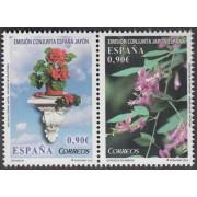 España Spain Emisión conjunta 2013 España-Japón Flora  MNH