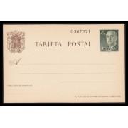 España Spain Entero Postal ( tarjeta ) 90 1962 Franco