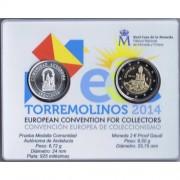 Moneda 2 € Proof Gaudí + prueba medalla Andalucía Torremolinos 2014