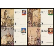 España Spain Entero Postal ( tarjeta ) 107/10 Expo ESPAÑA 75 Atrio San Ginés Ermita San Antonio Plaza Mayor Fuente Mariblanca